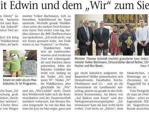 """26.06.2018 Vogtland Anzeiger – Mit Edwin und dem """"WIR"""" zum Sieg"""