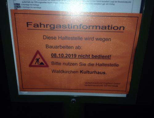 Eilmeldung für Schüler und Busmitfahrer in Waldkirchen