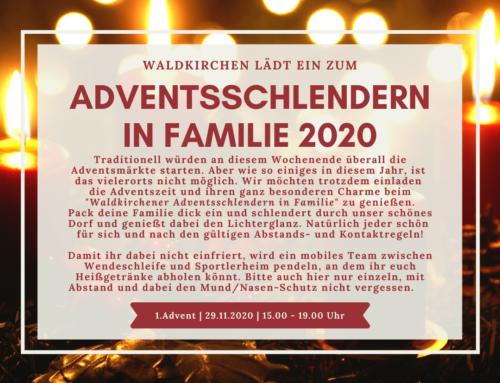 NEU: Adventsschlendern in Familie